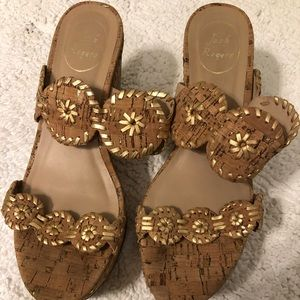Jack Rogers cork wedges